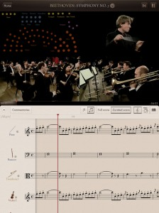 Main view of The Orchestra app